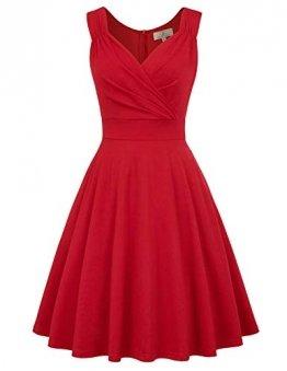 GRACE KARIN cocktailkleid elegant für Hochzeit Rockabilly Kleider Damen Vintage Retro Kleid CL698-5 S - 1