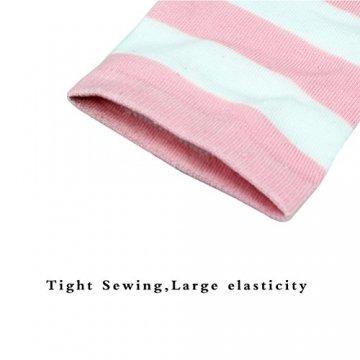 HABI 1 Paar Gestreifte blau rosa & weiß Kniestrümpfe Damen über Knie-Lange Overknee Überknie Strümpfe cosplay Kostüm (1) - 6