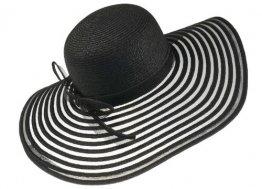Harrys-Collection Extra Großer Strohhut für Damen in 8 Farben, Farben:schwarz, Kopfgröße:Einheitsgröße - 1