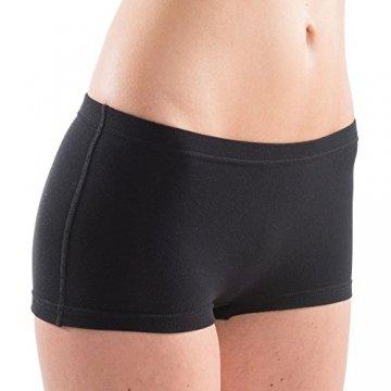 HERMKO 5700 2er Pack Damen Panty aus anschmiegsamer Baumwolle/Elastan, Farbe:schwarz, Größe:36/38 (S) - 2