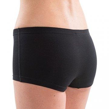 HERMKO 5700 2er Pack Damen Panty aus anschmiegsamer Baumwolle/Elastan, Farbe:schwarz, Größe:36/38 (S) - 3