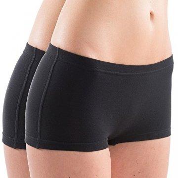 HERMKO 5700 2er Pack Damen Panty aus anschmiegsamer Baumwolle/Elastan, Farbe:schwarz, Größe:36/38 (S) - 1