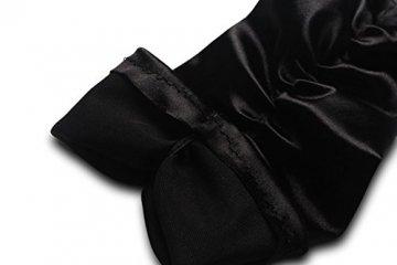 iLoveCos Lange Fingerlose Elastischer Spitze Braut Handschuhe 1920er Zubehör Flapper Kostüm für Frauen (Black) - 6