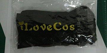 iLoveCos Lange Fingerlose Elastischer Spitze Braut Handschuhe 1920er Zubehör Flapper Kostüm für Frauen (Black) - 7