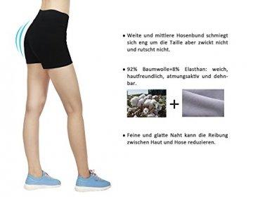 iLoveSIA 3X Shorts Sport Damen Schwarz Hotpants Sommer Unterwäsche tanzen Running Athletic Panties L - 2