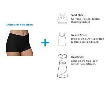 iLoveSIA 3X Shorts Sport Damen Schwarz Hotpants Sommer Unterwäsche tanzen Running Athletic Panties L - 3