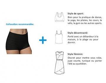 iLoveSIA 3X Shorts Sport Damen Schwarz Hotpants Sommer Unterwäsche tanzen Running Athletic Panties L - 5
