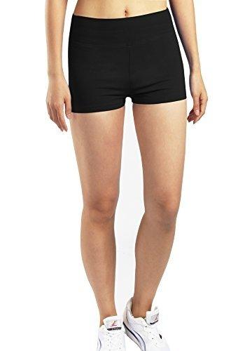 iLoveSIA 3X Shorts Sport Damen Schwarz Hotpants Sommer Unterwäsche tanzen Running Athletic Panties L - 6