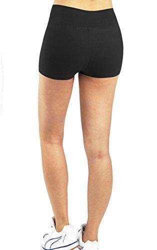 iLoveSIA 3X Shorts Sport Damen Schwarz Hotpants Sommer Unterwäsche tanzen Running Athletic Panties L - 7