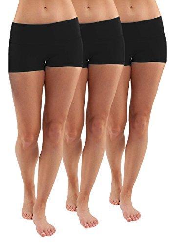 iLoveSIA 3X Shorts Sport Damen Schwarz Hotpants Sommer Unterwäsche tanzen Running Athletic Panties L - 1