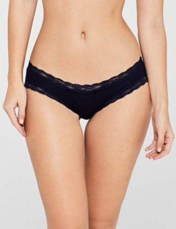 Iris & Lilly Damen Body Natural Hipster, 5er Pack, Blau (Navy), Medium - 2