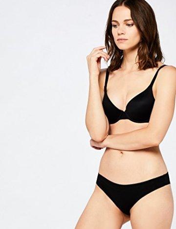 Iris & Lilly Damen Brazilian Slip Cotton 5er Pack, Schwarz (Black), Medium - 5