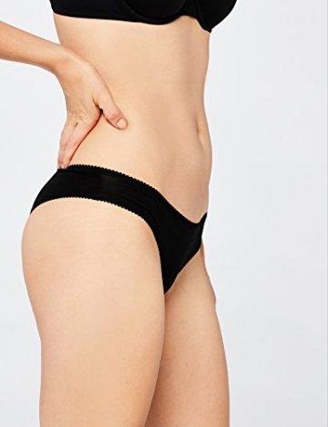 Iris & Lilly Damen Brazilian Slip Cotton 5er Pack, Schwarz (Black), Medium - 6