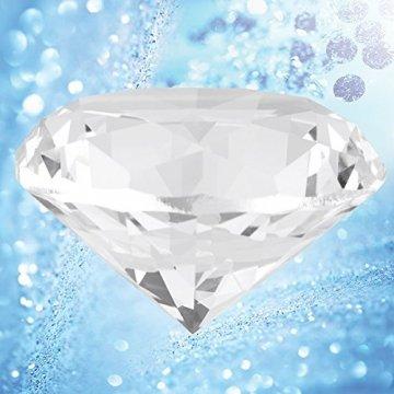 Jarchii Synthetic Diamond Stone, Synthetic Diamond Stone Große Strasssteine   Klarglas Künstlicher Kristallschmuck Briefbeschwerer - 2