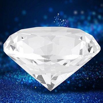 Jarchii Synthetic Diamond Stone, Synthetic Diamond Stone Große Strasssteine   Klarglas Künstlicher Kristallschmuck Briefbeschwerer - 3