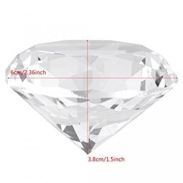 Jarchii Synthetic Diamond Stone, Synthetic Diamond Stone Große Strasssteine   Klarglas Künstlicher Kristallschmuck Briefbeschwerer - 4