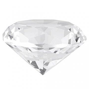 Jarchii Synthetic Diamond Stone, Synthetic Diamond Stone Große Strasssteine   Klarglas Künstlicher Kristallschmuck Briefbeschwerer - 1