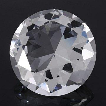 Jarchii Synthetic Diamond Stone, Synthetic Diamond Stone Große Strasssteine   Klarglas Künstlicher Kristallschmuck Briefbeschwerer - 6