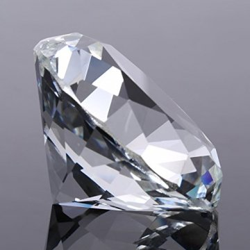 Jarchii Synthetic Diamond Stone, Synthetic Diamond Stone Große Strasssteine   Klarglas Künstlicher Kristallschmuck Briefbeschwerer - 7