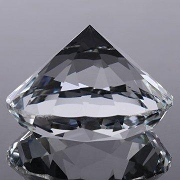 Jarchii Synthetic Diamond Stone, Synthetic Diamond Stone Große Strasssteine   Klarglas Künstlicher Kristallschmuck Briefbeschwerer - 8