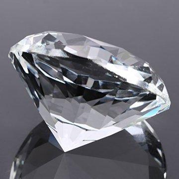 Jarchii Synthetic Diamond Stone, Synthetic Diamond Stone Große Strasssteine   Klarglas Künstlicher Kristallschmuck Briefbeschwerer - 9