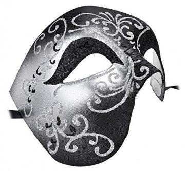 Kapmore Venezianische Maske Herren Maskerade Maske Phantom der Oper Maske Maskenball Maske Kostüme Karneval Party Halloween - 3