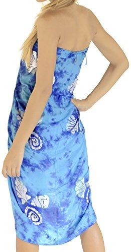 LA LEELA Bademode Badeanzug verschleiern Wickelbadebekleidung Frauen Sarong Pool Abnutzung Badeanzug Zeitkleidung türkis - 3