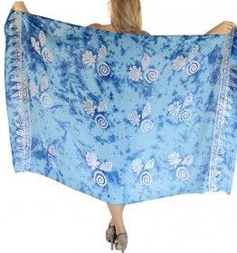 LA LEELA Bademode Badeanzug verschleiern Wickelbadebekleidung Frauen Sarong Pool Abnutzung Badeanzug Zeitkleidung türkis - 1