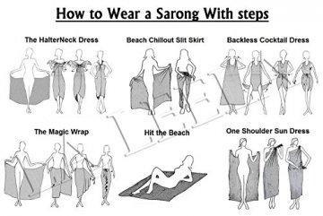 LA LEELA Bademode Badeanzug verschleiern Wickelbadebekleidung Frauen Sarong Pool Abnutzung Badeanzug Zeitkleidung türkis - 6