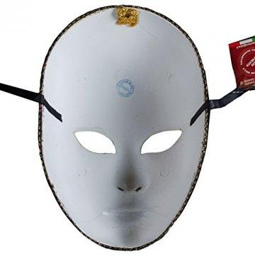 Lannakind Venezianische Maske Gesichtsmaske Volto Damen Karneval, Ballmaske, Wand-Deko (V05 schwarz) - 3