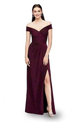 Laorchid Damen Lang Kleider Vintage 50's Abendkleid Ärmellos Schulterfrei Brautjungfern Cocktail Hochzeit Partei Burgundy XXL - 1