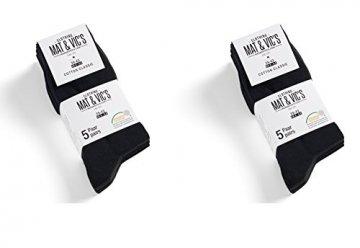 Mat and Vic's Cotton Classic Socken, 10 Paar,  größe 43/46,  Schwarz - 4