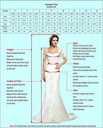 MisShow Damen A Linie Neckholder Chiffon Abendkleid Lang Ballkleid Abschlusskleid Rosa Gr.42 - 7