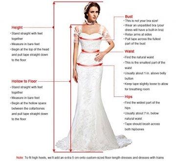 MisShow® Damen Neckholder Rückenfrei ärmellos Abendkleid Brautjungfernkleid Bodenlang Maxikleid Elfenbein 34 - 6