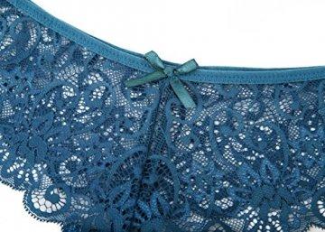 MOONIGHT 4er Pack Damen Baumwolle Dessous Unterwäsche Packung Wäsche Unterkleidung- Gr. EU 42-48 / XL, Farbe-1 - 3
