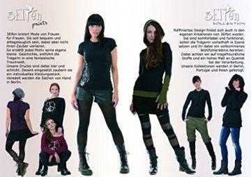 Neckholder Top Damen/Triangel Shirt Frauen schwarz mit Aufdruck Schmetterlings Elfe schwarz M, von 3 Elfen,Tanktop - 4