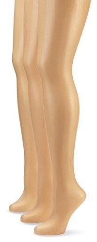 Nur Die Damen Strumpfhose 725949/3er Pack Transparent, 15 DEN, Gr. 44 (Herstellergröße: M (40-44)), braun (mandel 116) -