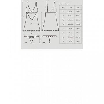Obsessive Chemise Negligee Mit String,Größe L/XL,Schwarz - 4