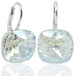 Ohrringe mit Kristalle von Swarovski® Silber Damen-Ohrhänger NOBEL SCHMUCK - 1