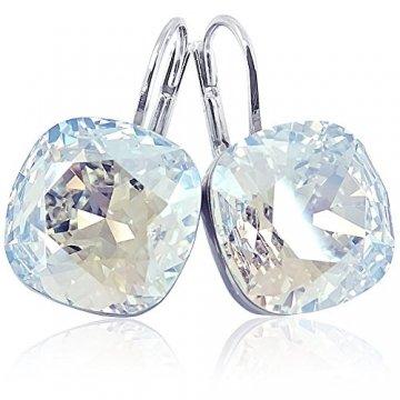 Ohrringe mit Kristalle von Swarovski® Silber Damen-Ohrhänger NOBEL SCHMUCK - 3
