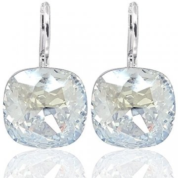 Ohrringe mit Kristalle von Swarovski® Silber Damen-Ohrhänger NOBEL SCHMUCK - 4