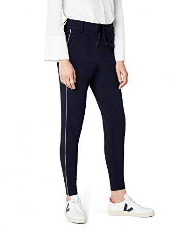 ONLY Damen onlPOPTRASH Piping Pant NOOS Hose, Blau (Night Sky), 36/L32 (Herstellergröße: S) - 1