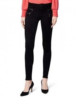 ONLY Damen Onlroyal Reg Skinny Zip Jeans DNM Noos Jeanshose, Schwarz (Black), 42/L30 (Herstellergröße: XL) - 1