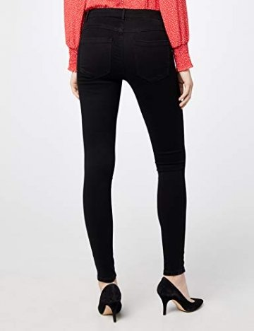 ONLY Damen Onlroyal Reg Skinny Zip Jeans DNM Noos Jeanshose, Schwarz (Black), 42/L30 (Herstellergröße: XL) - 4