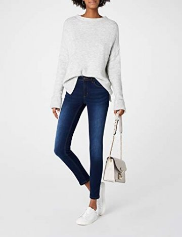 ONLY Damen Skinny Jeans 15077791/SKINNY SOFT ULTIMATE 201, Blau (Dark Blue Denim), Gr. L/L30 (L) - 2