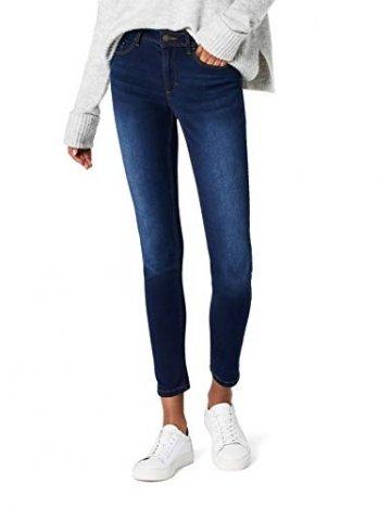 ONLY Damen Skinny Jeans 15077791/SKINNY SOFT ULTIMATE 201, Blau (Dark Blue Denim), Gr. L/L30 (L) - 1