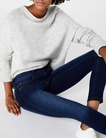 ONLY Damen Skinny Jeans 15077791/SKINNY SOFT ULTIMATE 201, Blau (Dark Blue Denim), Gr. L/L30 (L) - 5