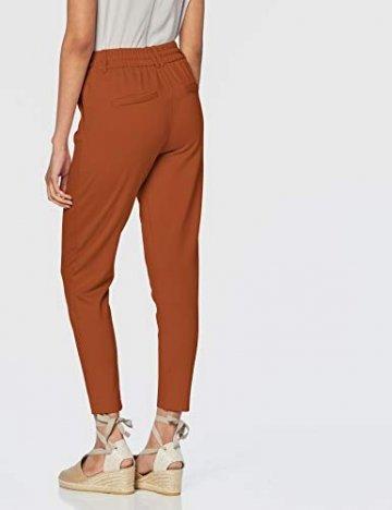 ONLY NOS Damen Onlpoptrash Easy Colour Pant PNT Noos Hose, Braun Ginger Bread, W/L34(Herstellergröße: M) - 4