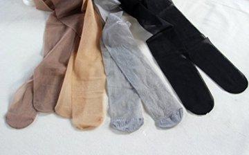 Outstanding® Lady Girl's Nylon Strumpfhose Shiny Silk Strumpfhose 8D Thin Light Glitter Strümpfe für Sommer, Frühling, Herbst - 4