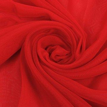 PB-SOAR XXL Damen Einfarbig Unifarben Sarong Pareo Strandtuch Wickelrock Wickeltuch, weich und leicht (Rot) - 5